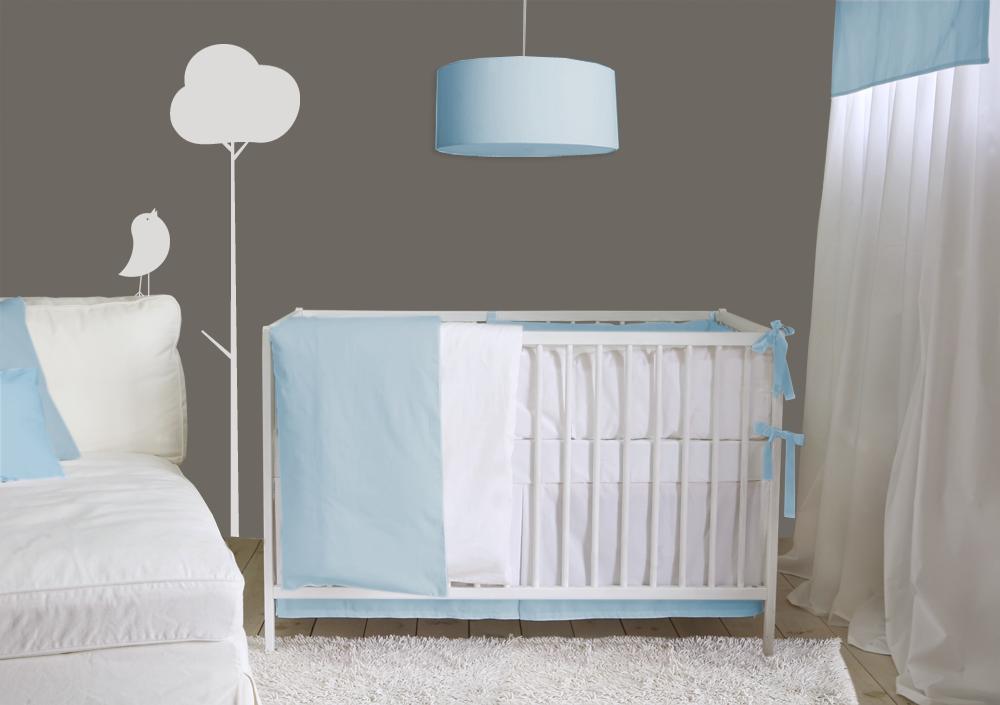 color block room monochromatic soft blue lublini